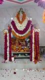 De Indische decoratie van de tempelbloem Stock Foto