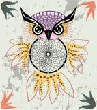 De Indische decoratieve uil van de Droomvanger in grafische stijl Illustratie vector illustratie