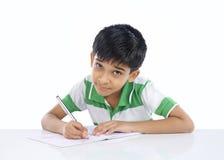 De Indische Jongen van de School stock afbeelding