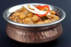 De Indische Kerrie Channa Masala van de Voedselkikkererwt Stock Fotografie