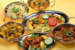 De Indische Maaltijd van de Kerrie Stock Foto