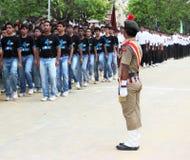 De Indische militaire mens van NCC in eenvormig royalty-vrije stock foto