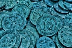 De Indische muntstukken van de Roepie stock afbeelding