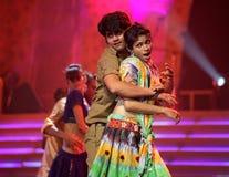 De Indische Muziek en de Dans tonen Stock Fotografie
