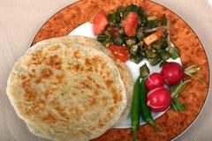 De Indische Reeks van het Voedsel - Vegetarische Maaltijd stock afbeeldingen