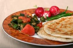 De Indische Reeks van het Voedsel - Vegetarische Maaltijd royalty-vrije stock foto