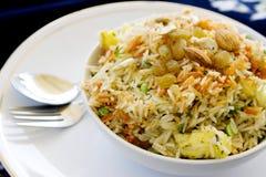 De Indische rijst van Biryani Royalty-vrije Stock Foto's