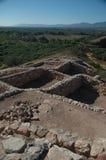 De Indische ruïnes van Sinagua in Tuzigoot Stock Foto