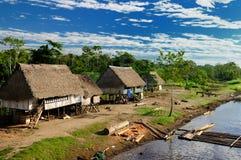 De Indische stammen van Amazonië in Brazilië Royalty-vrije Stock Fotografie