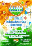 De Indische viering van de Onafhankelijkheidsdag Stock Foto