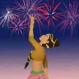 De Indische vrouw van het dansfestival royalty-vrije illustratie