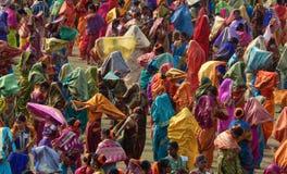 De Indische vrouwen traditionele Maharashtra danser van Lavani stock afbeelding