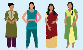 De Indische Vrouwen van het oosten Royalty-vrije Stock Afbeeldingen