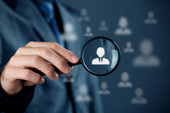 De individuele klantendienst en CRM Royalty-vrije Stock Afbeelding