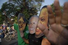 DE INDONESISCHE CONTROVERSE VAN DE CORRUPTIEoorlog stock foto's