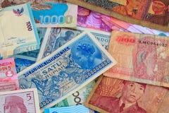 De Indonesische Munt van Vinatge Stock Afbeeldingen