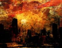De Indruk van de stad stock illustratie