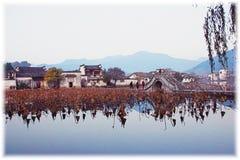 De Indruk van Hongcun, Anhui, China Royalty-vrije Stock Foto's