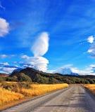 De indrukwekkende wolk over Patagonië Stock Foto's