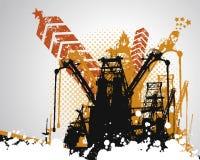 De Industriële Achtergrond van Grunge Stock Afbeeldingen