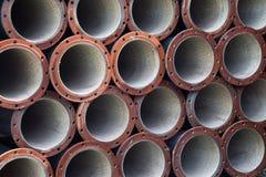 De industriële achtergrond van staalpijpen stock afbeeldingen