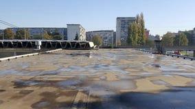 De industriële bouw dak met vulklei royalty-vrije stock fotografie