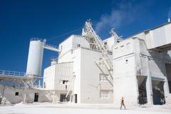 De industriële bouw en arbeider Stock Afbeelding