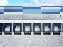 De industriële bouw en commercieel pakhuis stock fotografie
