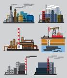 De industriële bouw fabriek Stock Foto