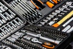 De industriële close-up van uitrustingshulpmiddelen Stock Foto's