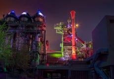 De Industriële Cultuur Duitsland van Landschaftsparkduisburg Nord Stock Foto