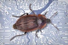 De industriële elektronische blauwe achtergrond van technologie Stock Foto