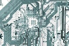 De industriële elektronische lichtblauwe achtergrond van technologie Stock Afbeeldingen