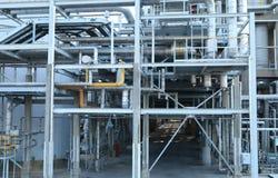 De industriële installatie van de olie Stock Afbeelding