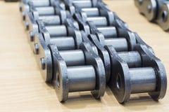 De industriële kettingen voor machine Royalty-vrije Stock Afbeeldingen