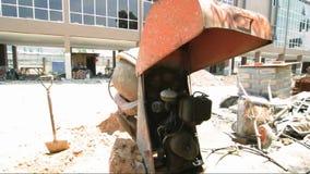 De industriële machines van de cementmixer stock footage