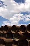 De industriële pijpen van het metaal Royalty-vrije Stock Afbeeldingen