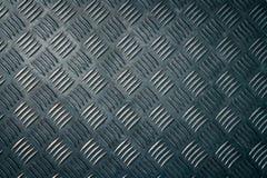 De industriële plaat van de metaalcontroleur De achtergrond van de de plaattextuur van de metaalcontroleur Metaal checkerplate vo stock foto's