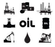 De industriële reeks van het olieonderzoek Stock Foto's