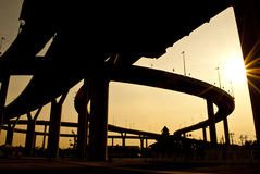 De industriële ringsweg Stock Foto
