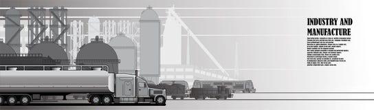 De industriële stedelijke infrastructuur van de landschapsfabriek stock illustratie