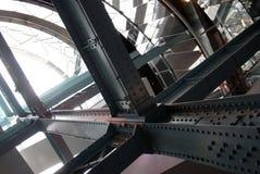 De industriële structuur van de metaaltechniek Stock Foto