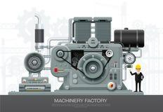 De industriële van het de bouwmateriaal van de machinefabriek techniek ve vector illustratie