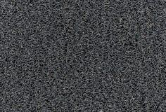 De industriële zwarte vinyl van de het Patroonauto van de tapijtrol textuur van de de Vloermat Stock Fotografie