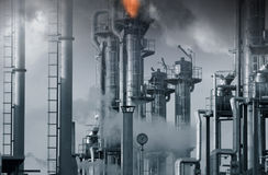 De industrieën van de olie, van het gas en van de brandstof royalty-vrije stock afbeelding