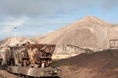 De industrie & trein Stock Foto