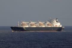 De industrie van de olie en van het gas - de tanker van het LNG Stock Foto