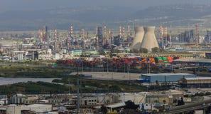 De industrie van de olieraffinaderij Stock Afbeelding