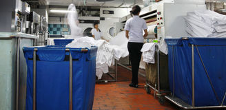 De industrie van de wasserij royalty-vrije stock fotografie