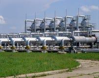 De industrie van het gas stock afbeelding